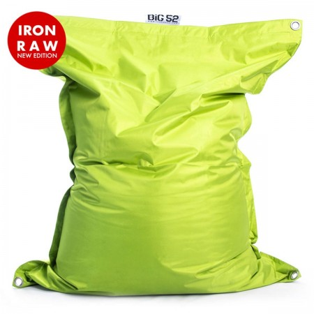Funda para puf gigante BiG52 IRON RAW Verde Lima