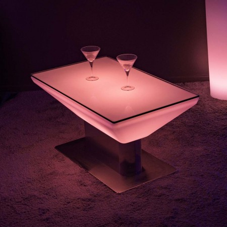 Table Basse Lumineuse à LED Multicolore - Steel Square