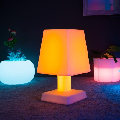 Lampada da tavolo a LED multicolore - ABA - XL SQUARE
