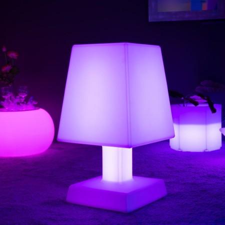 Mehrfarbige LED Tischlampe - ABA - XL SQUARE