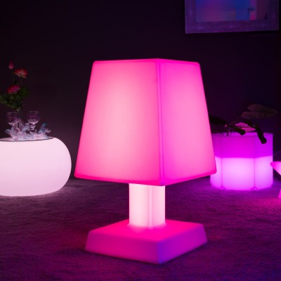 Lampe à poser LED Multicolore - ABA - XL SQUARE