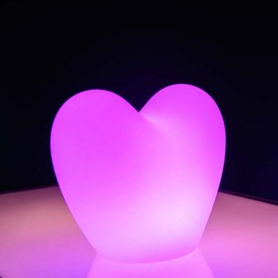 Lampe à poser LED Multicolore - COEUR