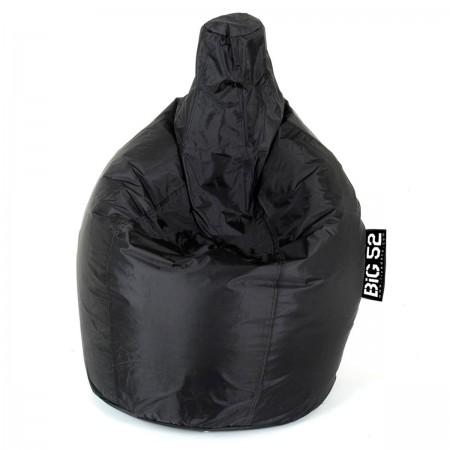 Puffbezug aus schwarzer Birne BiG52