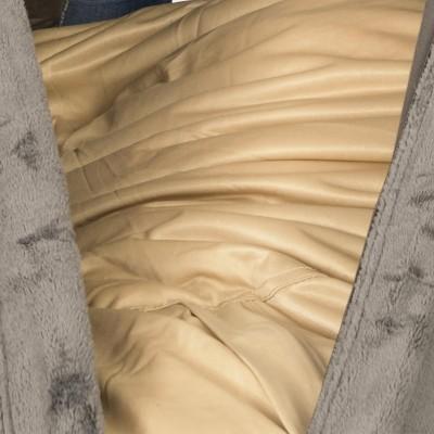Runder grauer Polar Armchair Pouf - BiG52 TiTAN S.