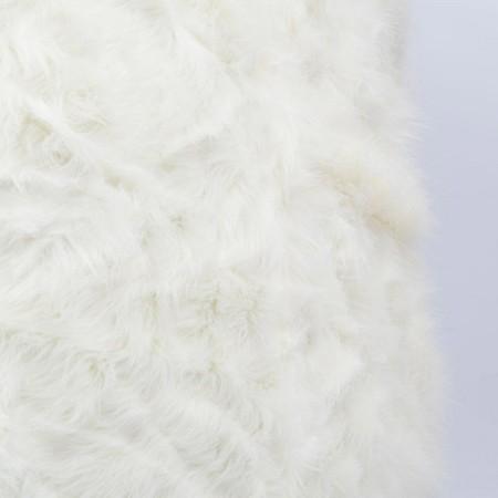 Runder weißer Pelz-Sessel-Hocker - BiG52 TiTAN S.