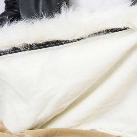 Puf de sillón redondo de piel blanca - BiG52 TiTAN S