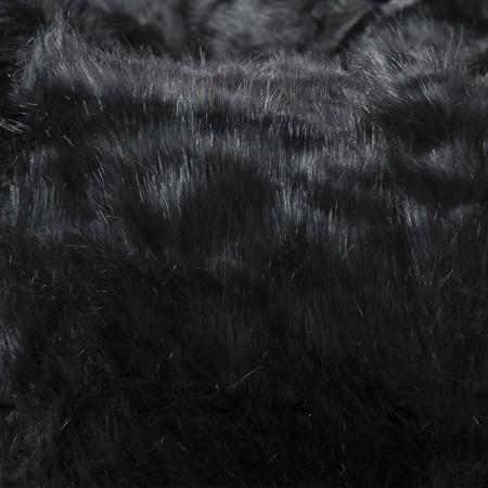 Pouf poltrona rotondo in pelliccia nera - BiG52 TiTAN S