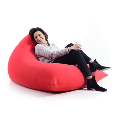 Pouf Géant Berlingot Rouge Stretch BiG52