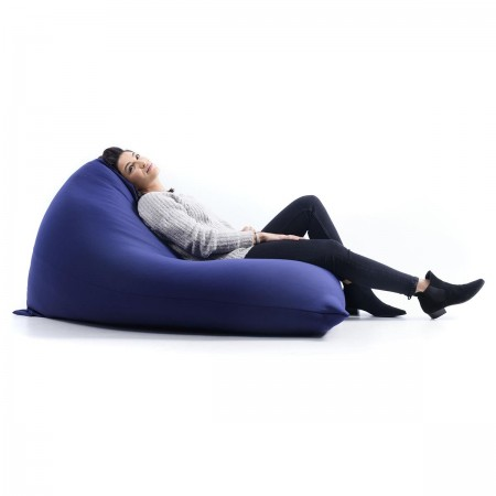 Puf Gigante Berlingot Azul Marino Stretch BiG52