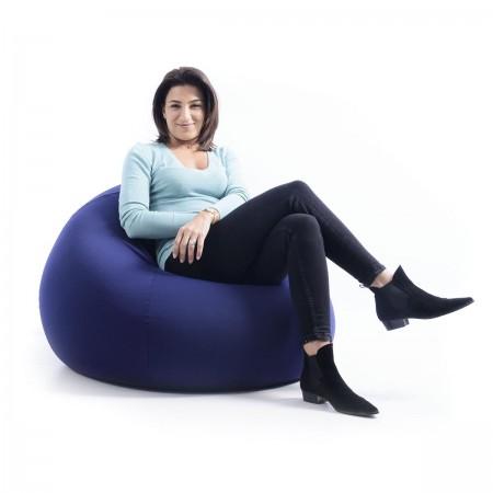 Sitzsack Birne Marineblau Stretch BiG52