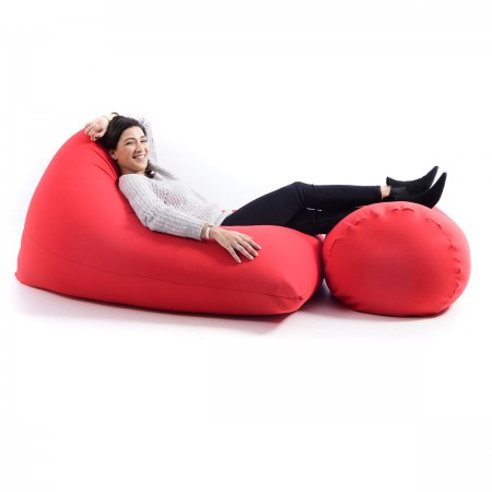 Pouf Repose Pieds Stretch BiG52 Rouge