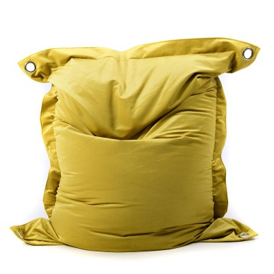 Pouf Géant Velours Jaune Moutarde BiG52