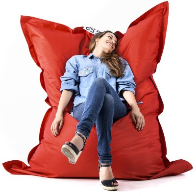 Riesiger roter Sitzsack BiG52