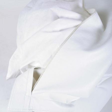 Pouf Géant Simili Cuir Blanc BiG52