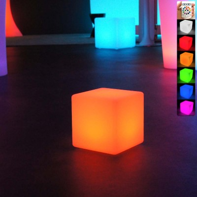 Cubo de luz LED multicolor - 20 cm