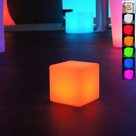 Cubo luminoso LED multicolore - 20 cm