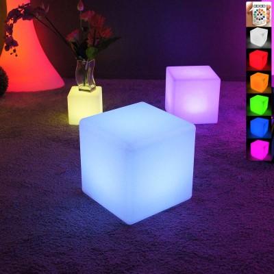 Cubo de luz LED multicolor - 40 cm