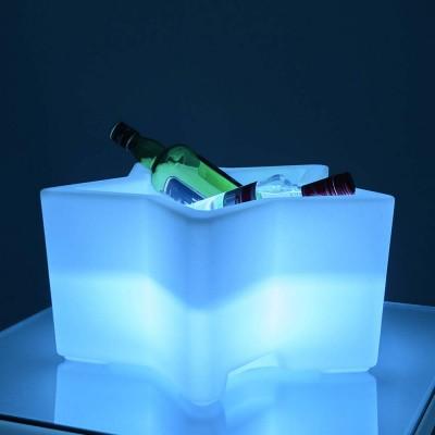 Seau à Champagne Étoile Lumineux à LED Multicolore
