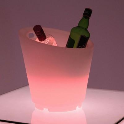 Cubo de champán 27S LED multicolor iluminado