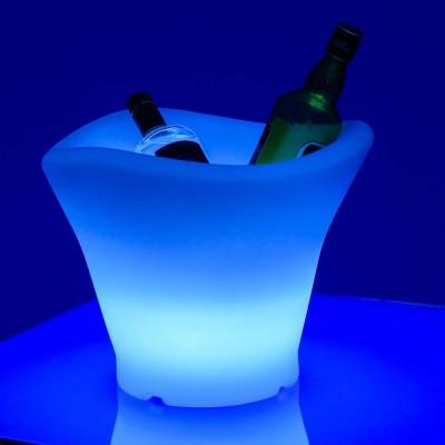 Cubo de champán 42S con iluminación LED multicolor