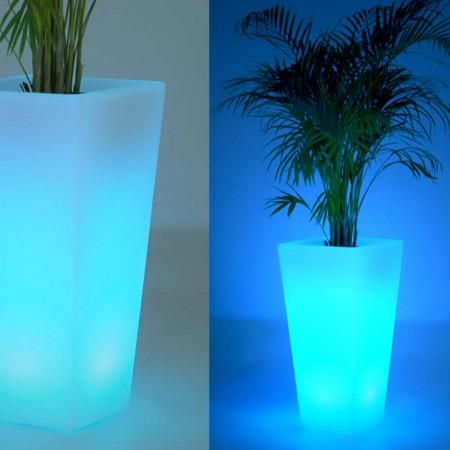 Mehrfarbige LED-Lichtvase - QUADRATISCH