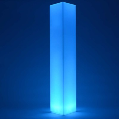 Mehrfarbige LED-Lichtsäule - QUADRAT 180 cm