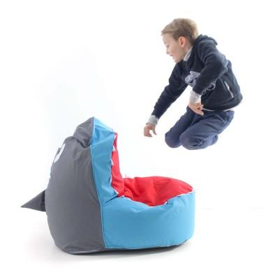 Sitzsack Kinderhai Blau BiG52