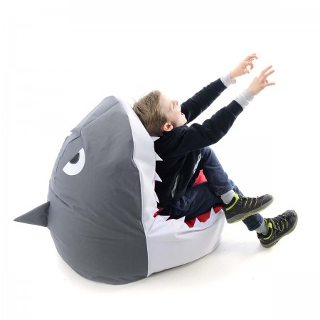 Pouf Enfant Requin Blanc BiG52