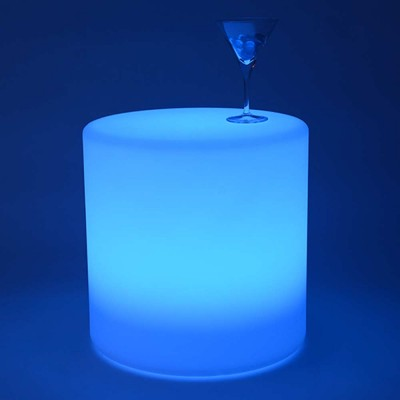 Mehrfarbiger LED-Lichtzylinder - 40 cm