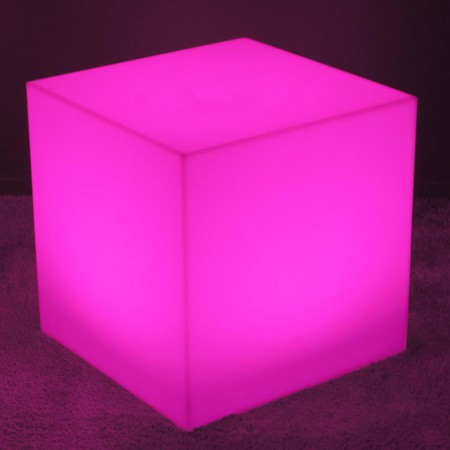 Cube Lumineux à LED Multicolore - 60 cm