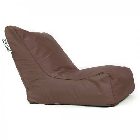 Housse Fauteuil pouf BiG52 chocolat avec repose pieds