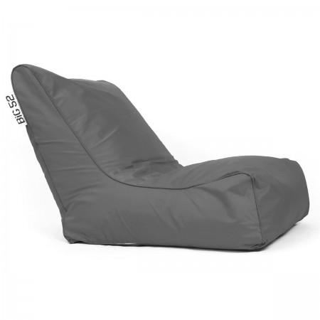 Housse Fauteuil pouf BiG52 graphite avec repose pieds
