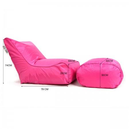 Pink BiG52 Puff Sesselbezug mit Fußstütze