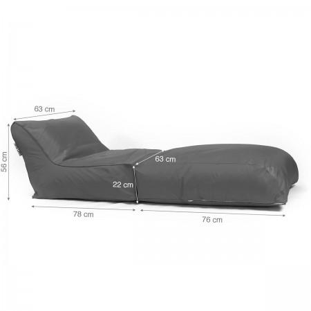 Fodera per sdraio Beanbag BiG52 grafite