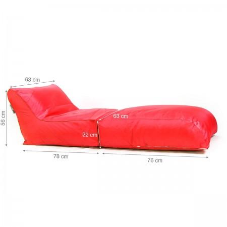 Funda puf BiG52 roja