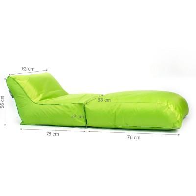 Housse Pouf transat BiG52 vert