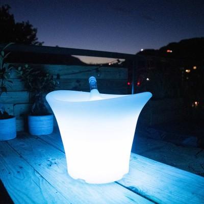 Cubo Champagne 36S Iluminado Multicolor LED
