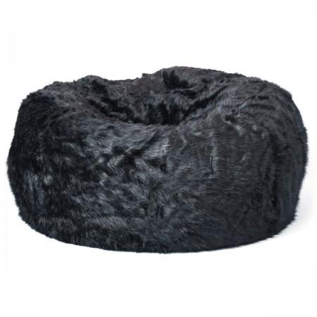 Pouf Géant XXXL BiG52 TiTAN - Fourrure Noir