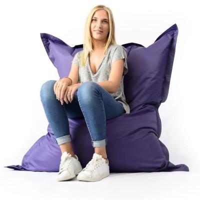 Giant Pouffe Purple XL - drinnen und draußen