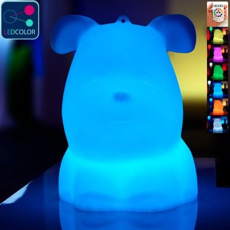 Perro de luz LED multicolor - VALPER