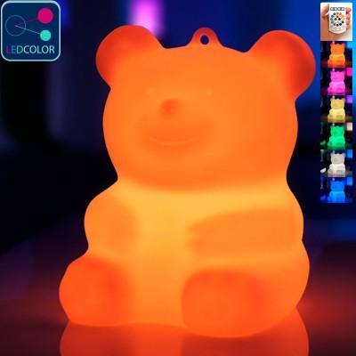Mehrfarbiger LED-beleuchteter Teddybär - BÄRA
