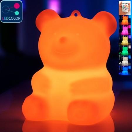 Orsacchiotto multicolore illuminato a LED - BÄRA