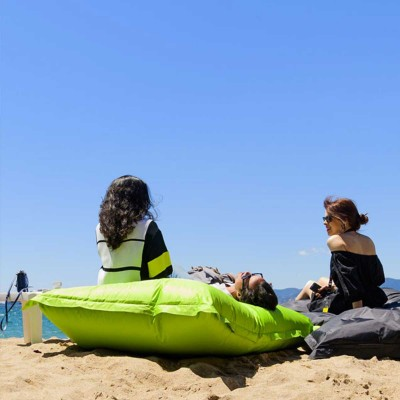 Pouf gigante Outdoor Beige Sabbia BiG52 IRON RAW