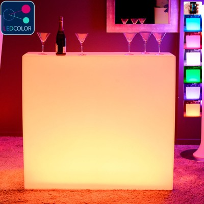 BAR Lumineux à LED Multicolore - KRUG SQUARE