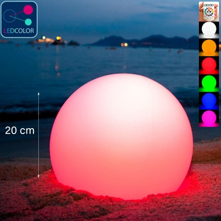 Bola de luz LED multicolor - 20 cm