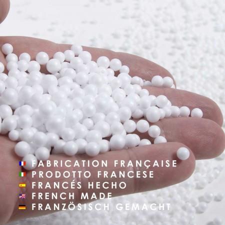 Pouf Géant XXXL BiG52 TiTAN - Fourrure Blanc