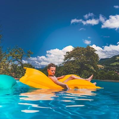 Puf de piscina gigante BiG52 POOL - Amarillo