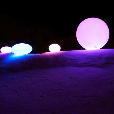 Boule Lumineuse à LED Multicolore - 40 cm