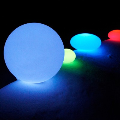 Boule Lumineuse à LED Multicolore - 40 cm