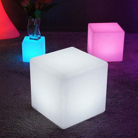 Soldes mobilier lumineux led sans fil avec t l commande - Mobilier jardin lumineux ...